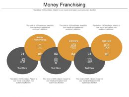 Money Franchising Ppt Powerpoint Presentation Styles Templates Cpb