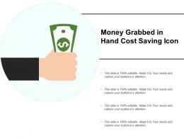 Money Grabbed In Hand Cost Saving Icon