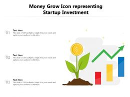 Money Grow Icon Representing Startup Investment