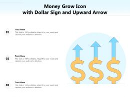 Money Grow Icon With Dollar Sign And Upward Arrow