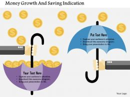Money Growth And Saving Indication Flat Powerpoint Design