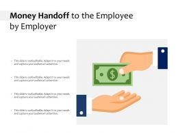 Money Handoff To The Employee By Employer
