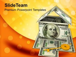 Money House American Currency Success Powerpoint Templates Ppt Themes And Graphics