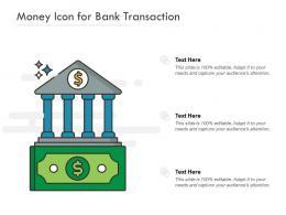 Money Icon For Bank Transaction