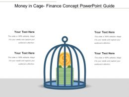 Money In Cage Finance Concept Powerpoint Guide