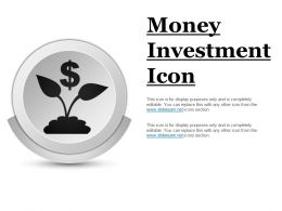 Money Investment Icon Ppt Inspiration