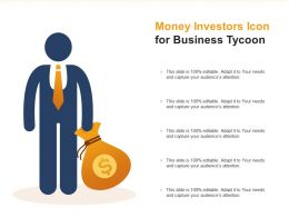 Money Investors Icon For Business Tycoon