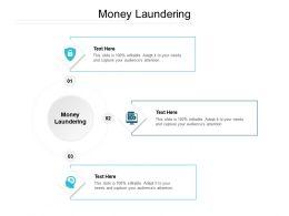 Money Laundering Ppt Powerpoint Presentation Slides Layout Ideas Cpb