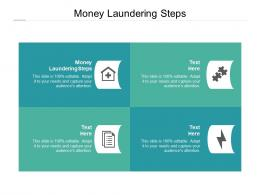Money Laundering Steps Ppt Powerpoint Presentation Slides Diagrams Cpb