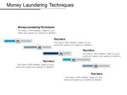Money Laundering Techniques Ppt Powerpoint Presentation File Graphics Design Cpb