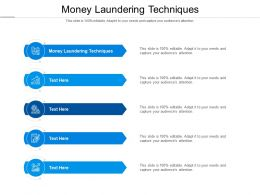 Money Laundering Techniques Ppt Powerpoint Presentation Infographics Show Cpb