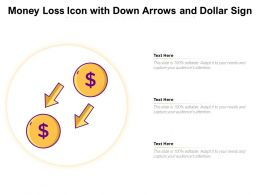 Money Loss Icon With Down Arrows And Dollar Sign