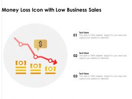 Money Loss Icon With Low Business Sales