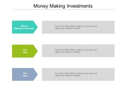 Money Making Investments Ppt Powerpoint Presentation File Backgrounds Cpb