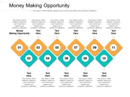 Money Making Opportunity Ppt Powerpoint Presentation Ideas File Formats Cpb