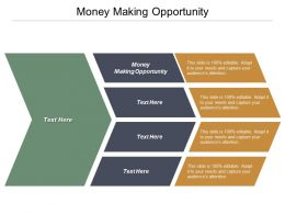Money Making Opportunity Ppt Powerpoint Presentation Infographic Template Elements Cpb