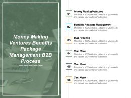 money_making_ventures_benefits_package_management_b2b_process_cpb_Slide01
