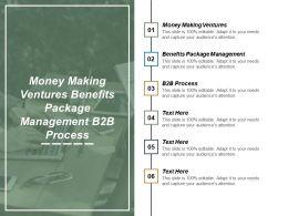 Money Making Ventures Benefits Package Management B2b Process Cpb