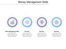 Money Management Skills Ppt Powerpoint Presentation File Professional Cpb
