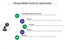 Money Market Funds Vs Liquid Funds Ppt Powerpoint Presentation Professional Show Cpb