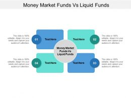 Money Market Funds Vs Liquid Funds Ppt Powerpoint Presentation Show Good Cpb