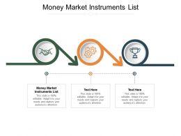 Money Market Instruments List Ppt Powerpoint Presentation Portfolio Infographics Cpb