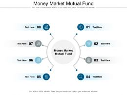 Money Market Mutual Fund Ppt Powerpoint Presentation Slides Topics Cpb