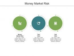 Money Market Risk Ppt Powerpoint Presentation Infographics Design Ideas Cpb