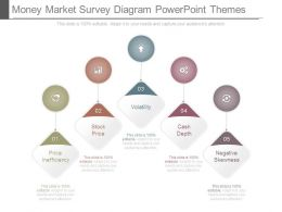 Money Market Survey Diagram Powerpoint Themes