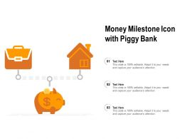 Money Milestone Icon With Piggy Bank