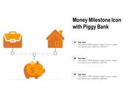 Money Milestone Icon With Piggy Bank