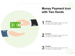 Money Payment Icon With Two Hands