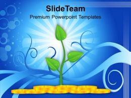 Money Plant Shows Growth Success Powerpoint Templates Ppt Themes And Graphics 0113