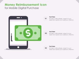 Money Reimbursement Icon For Mobile Digital Purchase
