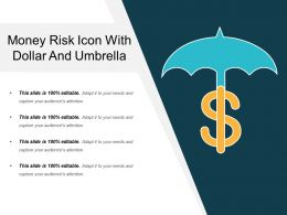 Money Risk Icon With Dollar And Umbrella