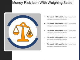 Money Risk Icon With Weighing Scale