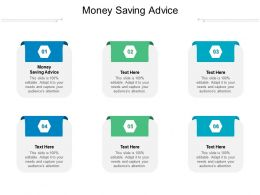Money Saving Advice Ppt Powerpoint Presentation Gallery Examples Cpb