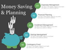 Money Saving And Planning Ppt Infographics