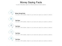 Money Saving Facts Ppt Powerpoint Presentation Pictures Templates Cpb