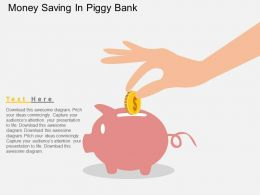 Money Saving In Piggy Bank Flat Powerpoint Design