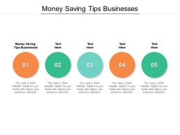 Money Saving Tips Businesses Ppt Powerpoint Presentation Icon Background Cpb