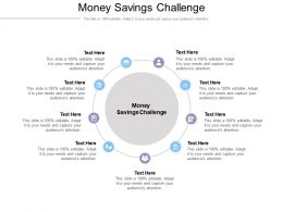 Money Savings Challenge Ppt Powerpoint Presentation File Formats Cpb