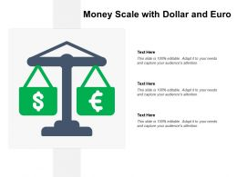 Money Scale With Dollar And Euro