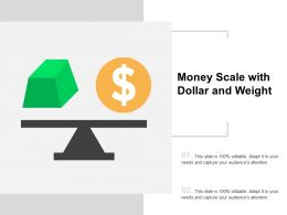 Money Scale With Dollar And Weight