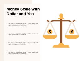 Money Scale With Dollar And Yen