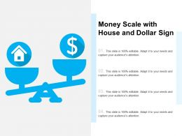 Money Scale With House And Dollar Sign