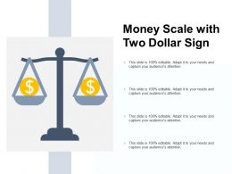 Money Scale With Two Dollar Sign
