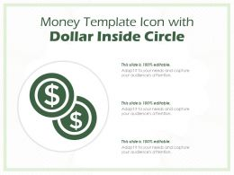 Money Template Icon With Dollar Inside Circle