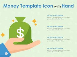 Money Template Icon With Hand