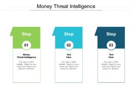 Money Threat Intelligence Ppt Powerpoint Presentation Outline Vector Cpb
